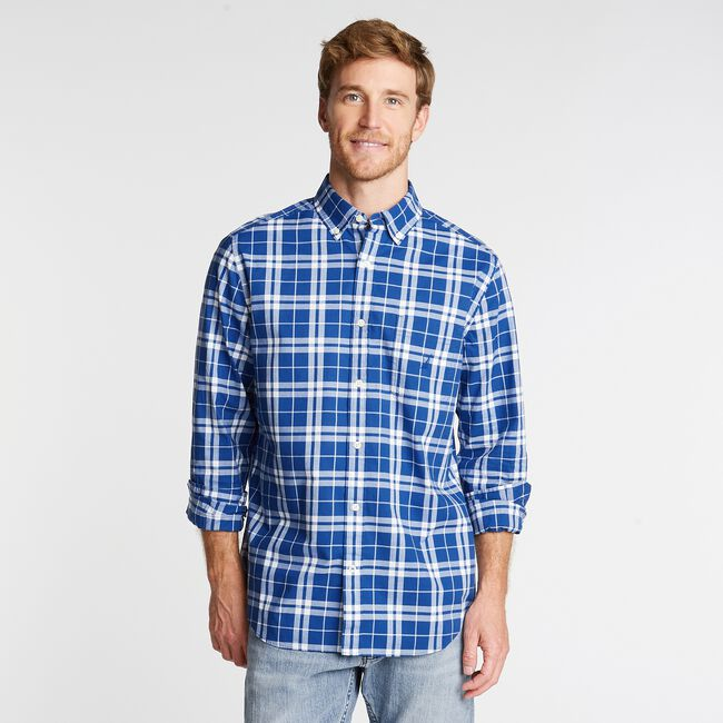 PLAID  POPLIN SHIRT,Limoges,large