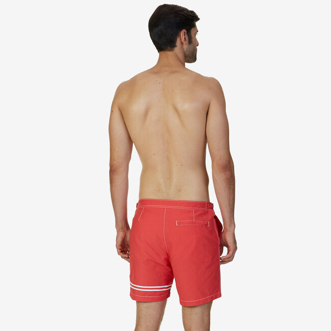"Quick Dry Stripe 17"" Swim Trunk,Buoy Red,large"