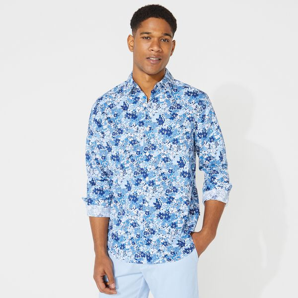 BIG & TALL CLASSIC FIT FLORAL PRINT SHIRT - Limoges