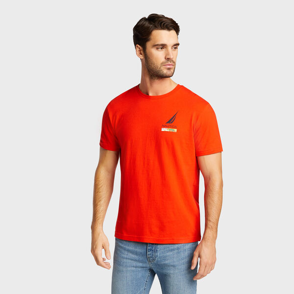 Lonely Lei Short Sleeve T-Shirt - Firey Red
