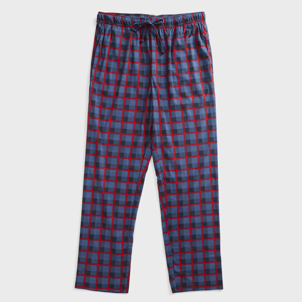 PLAID FLEECE SLEEP PANT - Navy