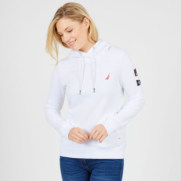 Solid Pullover Hoodie - Bright White