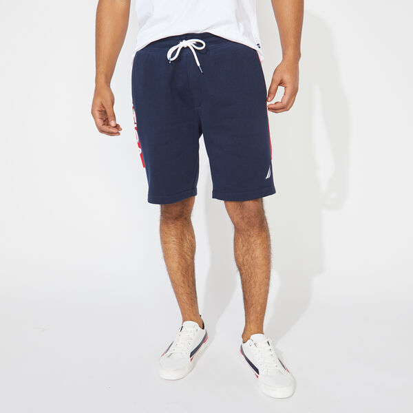 COLORBLOCK LOGO KNIT SHORTS - Pure Dark Pacific Wash