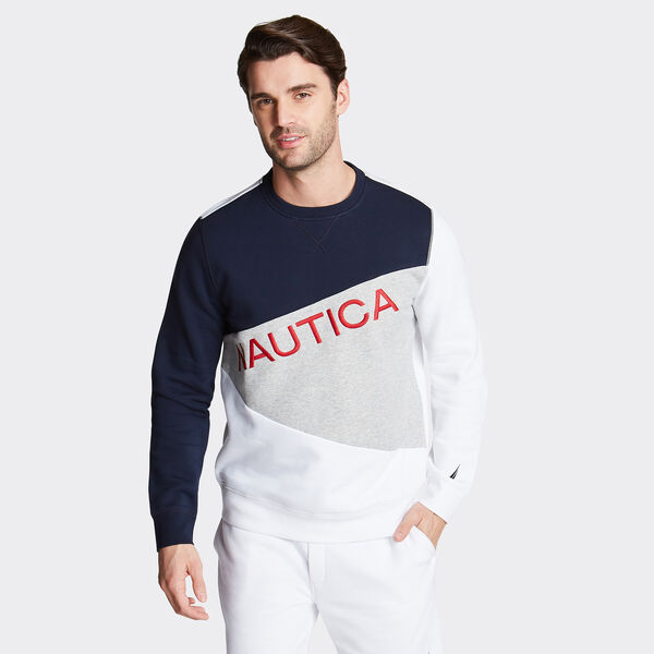 Logo Colorblock Sweatshirt - Navy