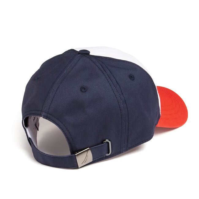 BASEBALL CAP IN SIGNAL FLAG,Navy,large