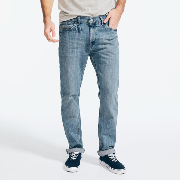 Light Tidewater Wash Straight Leg Jeans - Light Tide Water Wash