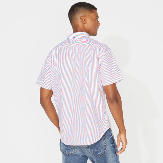 CLASSIC FIT STRIPED OXFORD SHIRT,Bright White,large