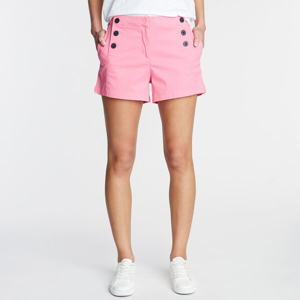 "Stretch Twill Sailor Shorts - 4"" Inseam - Petunia"