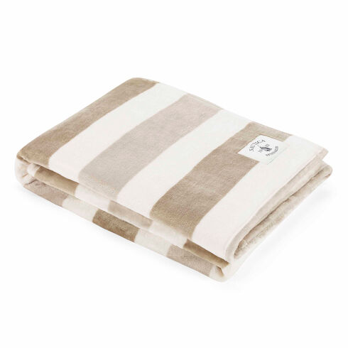 Awning Stripe Throw Blanket - Brown Stone