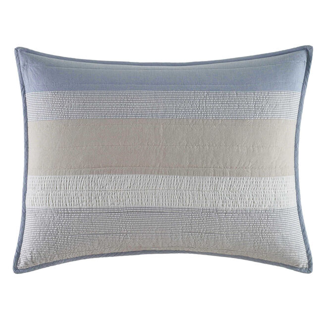 Terry Cove Beige Quilted Standard Sham,Beige Heather,large