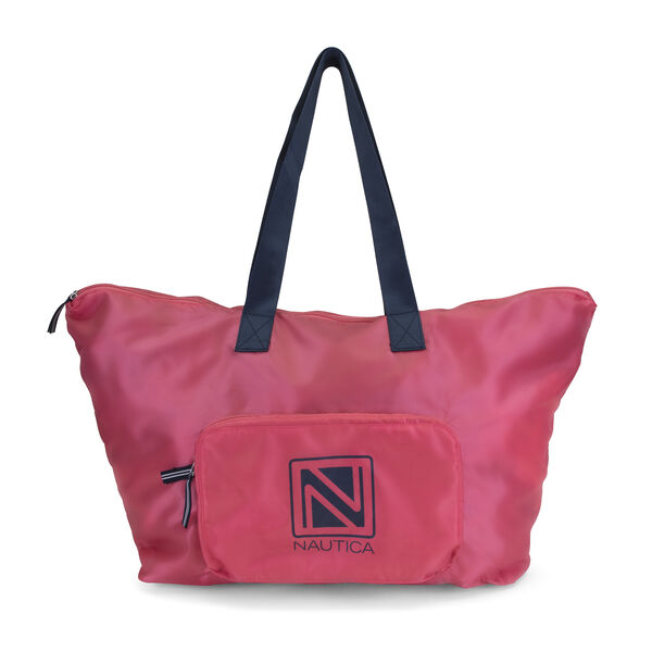 New Tack Packable Large Tote - Coral