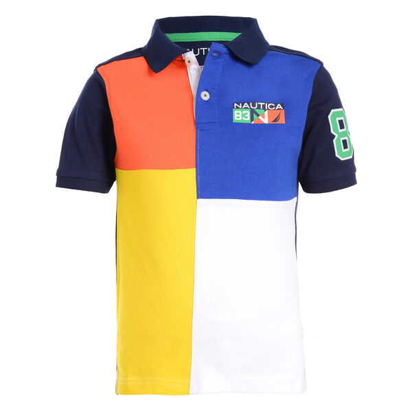 BOY'S PATCH HERITAGE POLO (8 - 18) - Medallion Blue