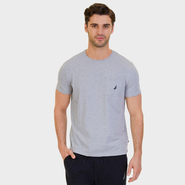 Big & Tall Active Stretch Pocket T-Shirt - Grey Heather
