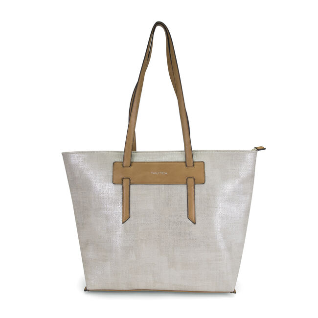 West Palm Tote,Silver,large