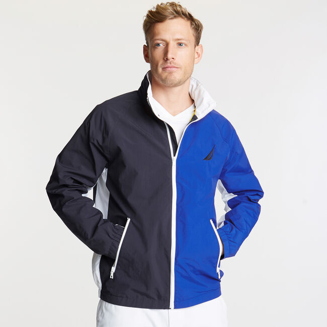 Colorblock Lightweight Jacket,Navy,large