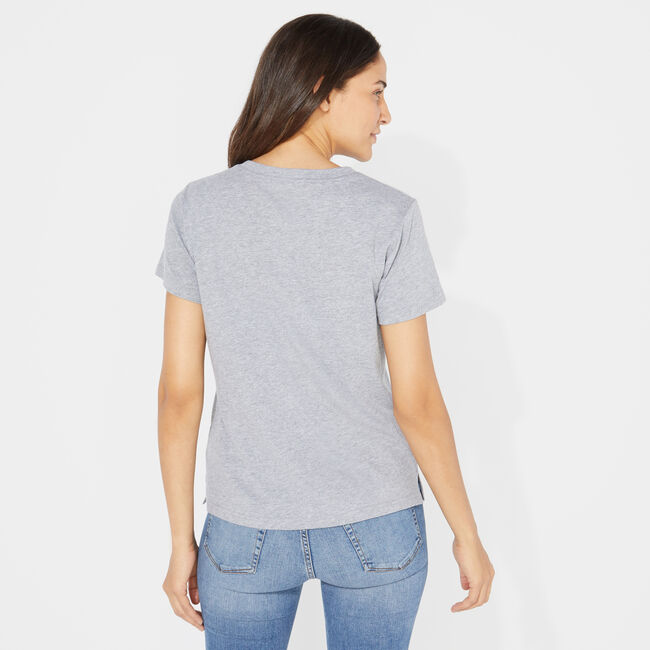 NAUTICA JEANS CO. ANCHOR GRAPHIC TEE,Fog,large