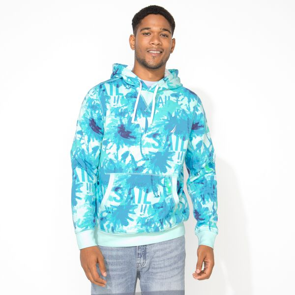 BIG & TALL GRAPHIC PULLOVER HOODIE - Aquabreeze