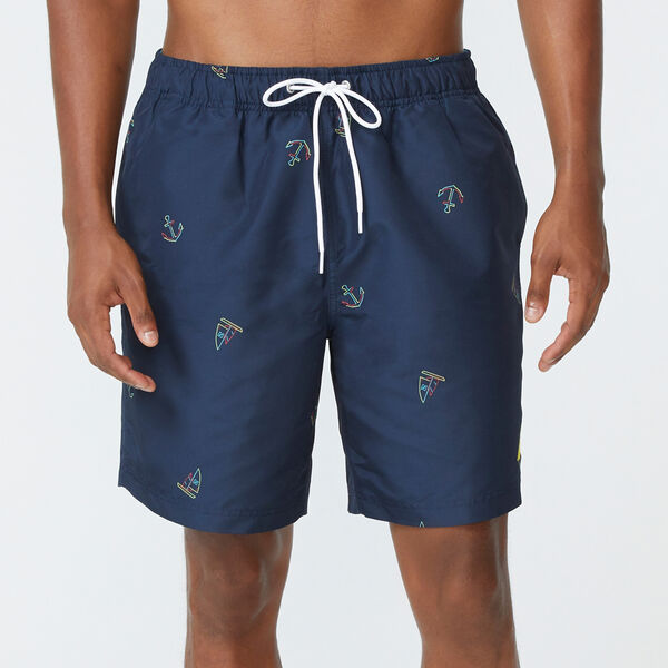 "8"" ICON PRINT SWIM - Navy"