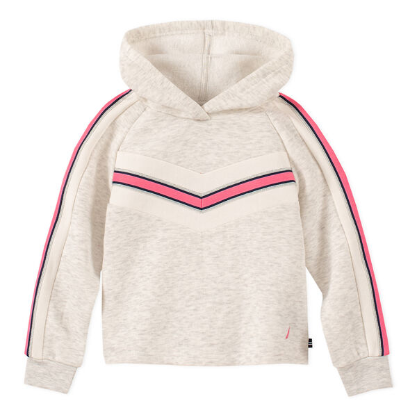 GIRL'S SOFT PIECED FLEECE HOODIE (2T - 4T) - Taupe