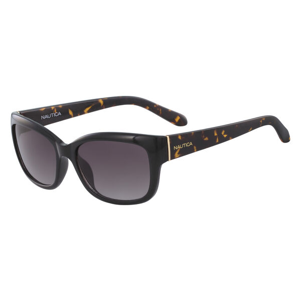 RECTANGLE WRAP SUNGLASSES - Black