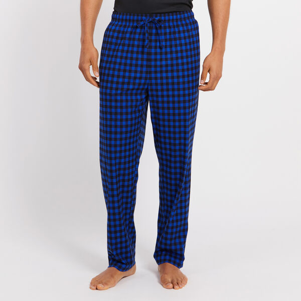 Fleece Gingham Pajama Pants - Bright Cobalt