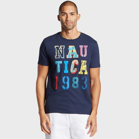 Big & Tall Nautica 1983 Jersey T-Shirt - Navy