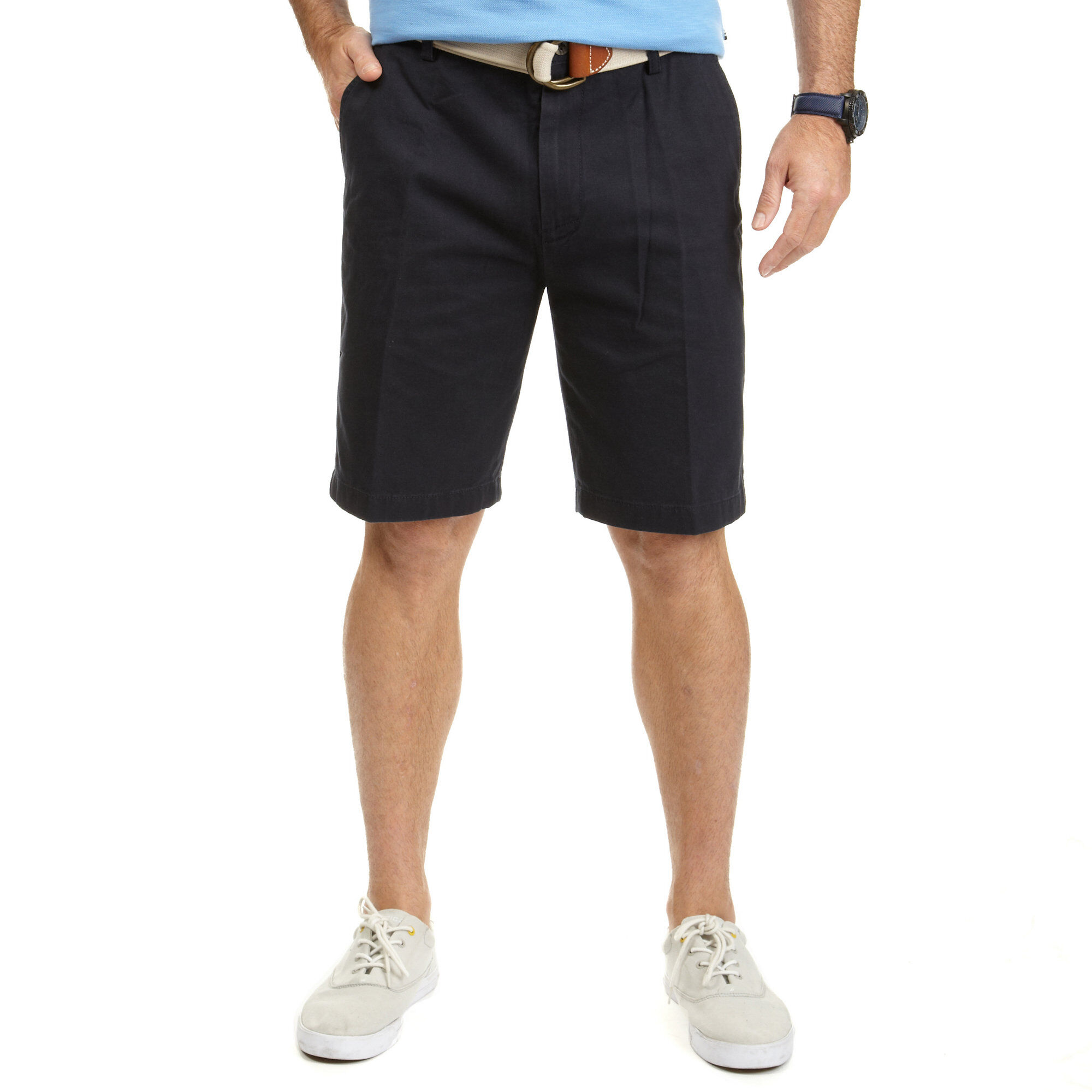 Nautica Mens Big & Tall Flat Front Classic Fit Shorts