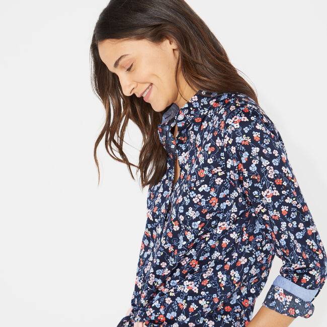 DITSY PRINT SHIRT,Stellar Blue Heather,large