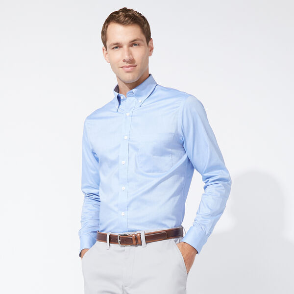 CLASSIC FIT COTTON SHIRT IN MEDIUM BLUE - Angel Blue