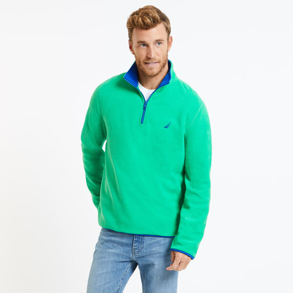 Basic Quarter-Zip Nautex Pullover - Bright Green