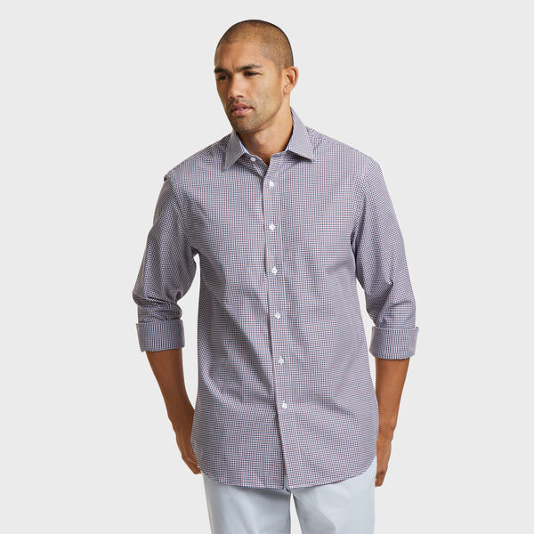 IRON FREE CLASSIC FIT SHIRT IN PORT SMALL TATTERSALL - Macintosh