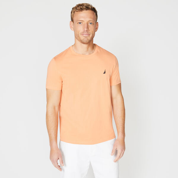 SOLID SHORT SLEEVE CREWNECK T-SHIRT - Orange