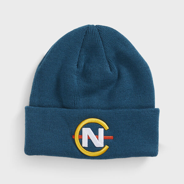 COMPETITION RIBBED-KNIT LOGO BEANIE - Blue Mist Pantone