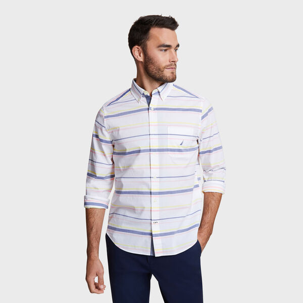 Classic Fit Shirt in Stripe - Bright White