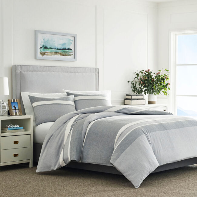 Clearview Gray Full/Queen Duvet & Sham Set,Seal Grey,large