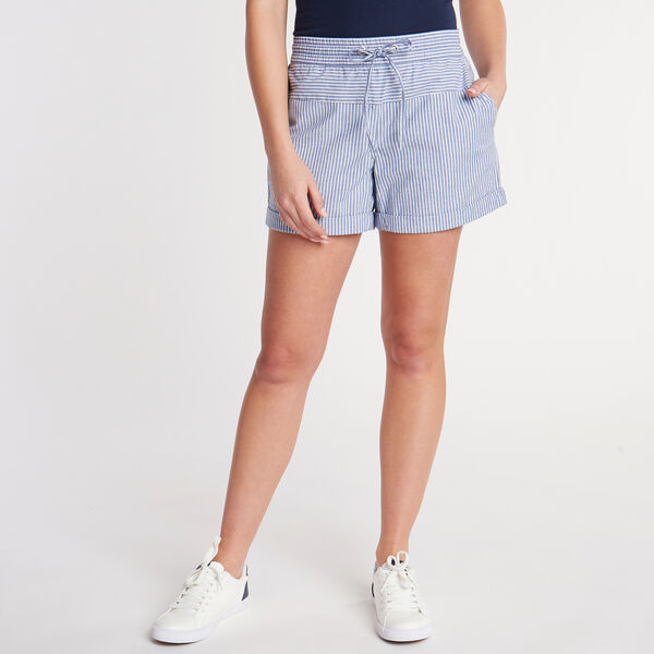 Asbury Classic Fit Stretch Short in Stripe - Bayberry Blue