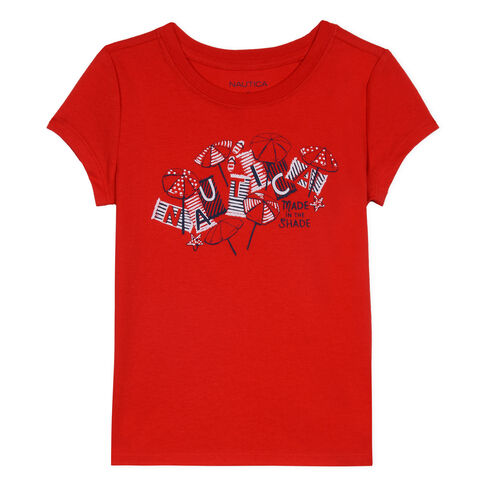 Toddler Girls' Made in the Shade Graphic Tee (2T-4T) - Lobster Red