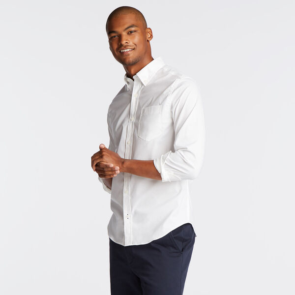 Long Sleeve Slim Fit Solid Wrinkle-Resistant Shirt - Bright White