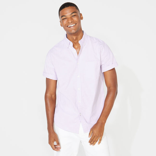 CLASSIC FIT STRETCH SHORT SLEEVE OXFORD SHIRT - Lavendula