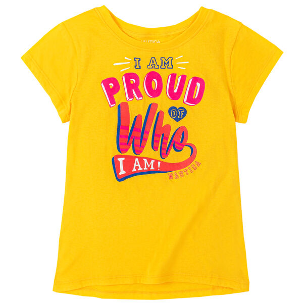 LITTLE GIRLS' GRAPHIC T-SHIRT (4-7) - Gold