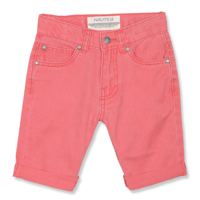 Little Boys' Cowell Cuffed Shorts (4-7),Rose,large