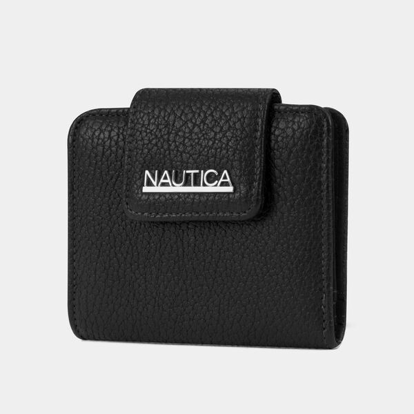 LOGO SNAP CARD CASE - True Black