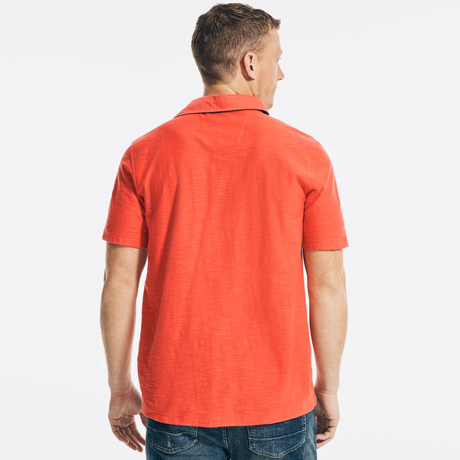 CLASSIC FIT CHEST-STRIPE POLO,Seaside Red,large