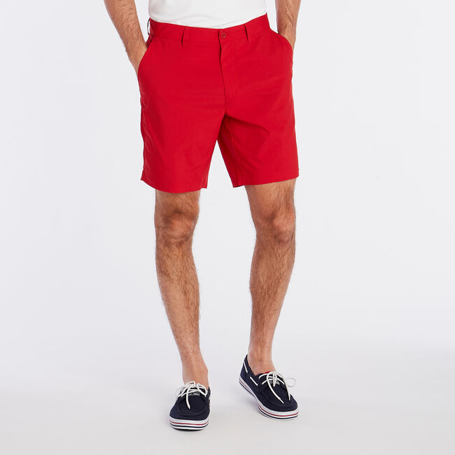 "8.5"" Performance Golf Short,Nautica Red,large"
