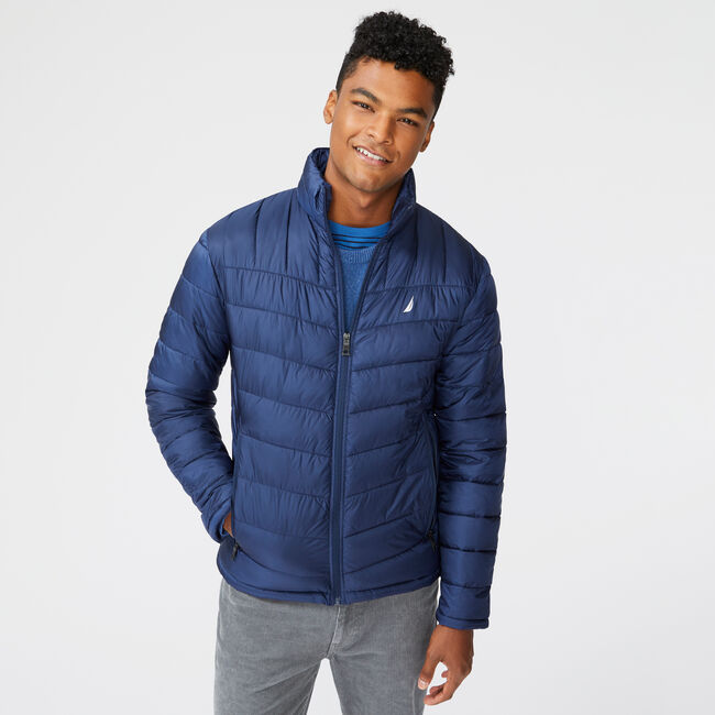 QUILTED J-CLASS RIPSTOP JACKET,Navy,large