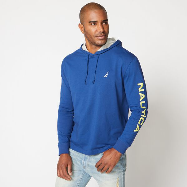 BIG & TALL NS83 GRAPHIC T-SHIRT HOODIE - Estate Blue