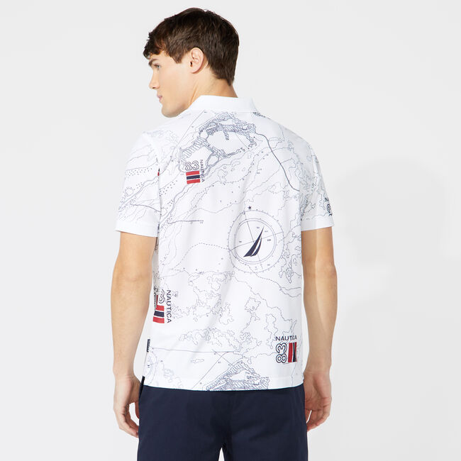 CLASSIC FIT PRINT POLO,Bright White,large
