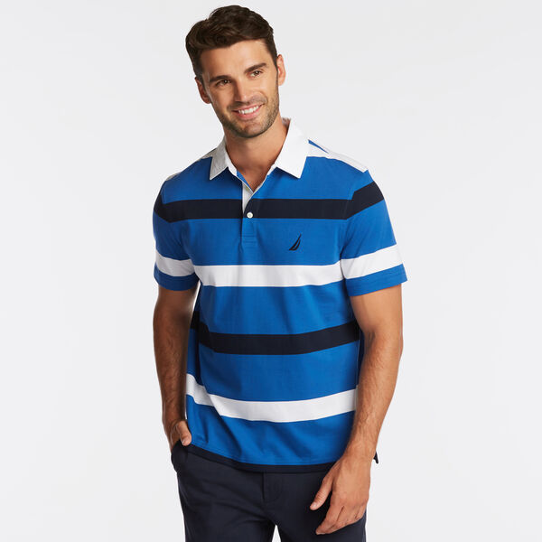 CLASSIC FIT NAVTECH MIXED STRIPE POLO - Windsurf Blue