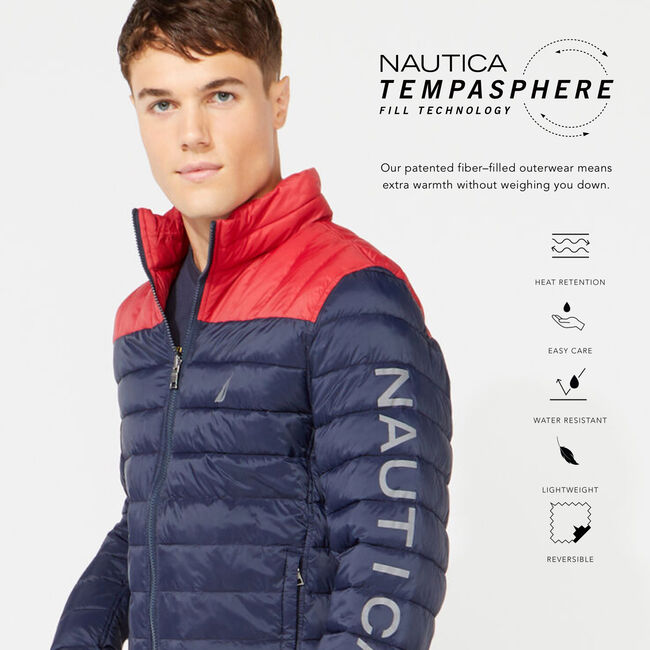 LIGHTWEIGHT REVERSIBLE JACKET WITH TEMPASPHERE,Pure Dark Pacific Wash,large