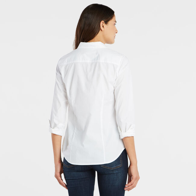 PERFECT SHIRT IN STRETCH COTTON,Bright White,large